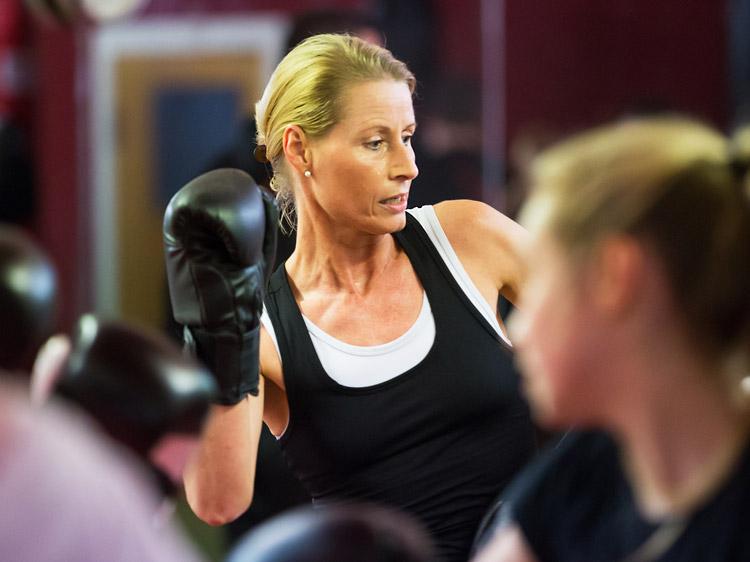 Kickboxtraining für Frauen